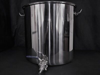 50ltr stainless steel stockpot with tap Hlt Kettle mash tun tank