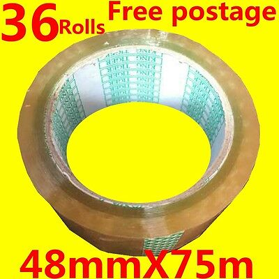 36Rolls sticky tape 48mmX75meter office packing tape Good toughness adhesion