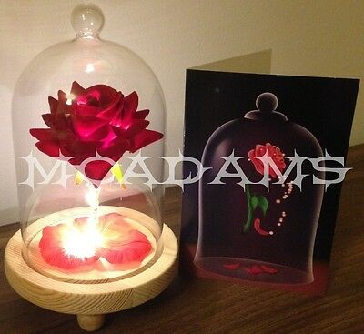 Walt Disney Beauty And The Beast Inspired Enchanted Rose With Card
