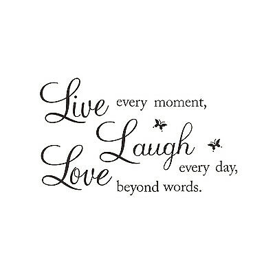 "LIVE LAUGH LOVE"" Wall Quote Stickers Removable Decal Home Art Decoration D3T7"