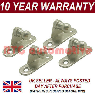 PAIR GAS STRUT END FITTINGS 10MM BALL PIN BRACKET SILVER MULTI FIT GSF39