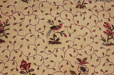 Antique Indienne fabric c 1750-1760 printed material fabric