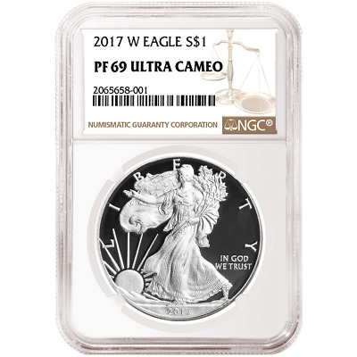 2017-W Proof $1 American Silver Eagle NGC PF69UC Brown Label