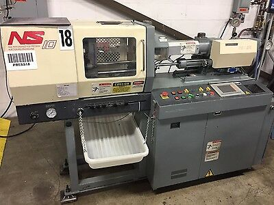 1996 NISSEI 10 TON PLASTIC INJECTION MOLDING MACHINE-NS10-1A  Micro mold