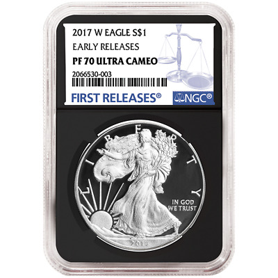 2017-W Proof $1 American Silver Eagle NGC PF70UC Blue ER Label Retro Core