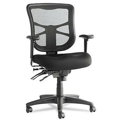 Alera Elusion Series Mesh Mid-Back Multifunction Chair, Black EL42ME10B