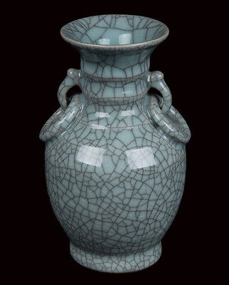 China 20. Jh. A Chinese Ge Type Baluster Vase - Vaso Cinese Chinois Jarrón Chino