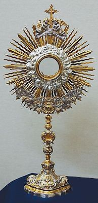 Ostensorio cesellato barocco baroque Monstrance chiseled ostensoir Monstranz