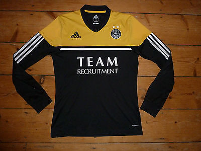 small ABERDEEN FC Football Shirt 2012-13 LS away Soccer Jersey Scottish #Dons