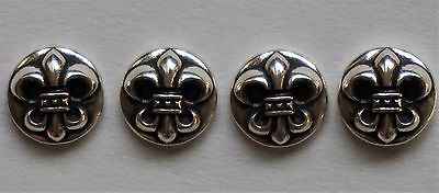authentic Chrome Hearts logo 2010 .925 silver 4 pieces set small buttons