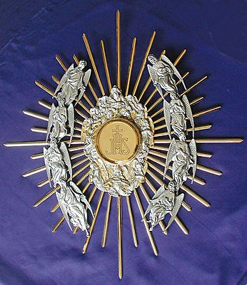 Ostensorio cesellato da parete wall Monstrance chiseled ostensoir Monstranz