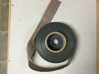 Roll of 40 Pin Rainbow Flat Ribbon Cable