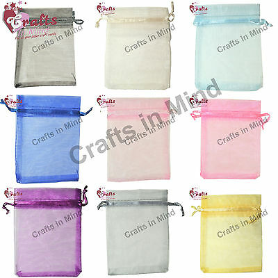 Organza Bags, Wedding Favours, Jewellery Pouch, Gift Bags | 5 Sizes 10 colours!