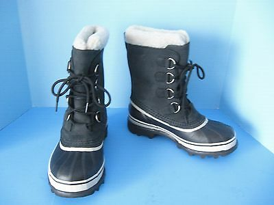 New-with-Tags Women's Sorel Caribou Black/Stone Waterproof Tall Winter Boots 7.5