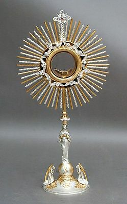 Ostensorio con Madonna Monstrance with Mary ostensoir Monstranz monstrancja