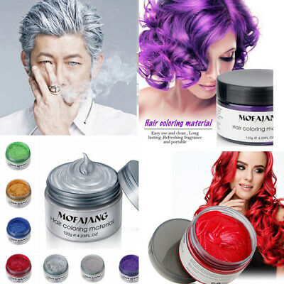 MOFAJANG Hair Color Pomades Wax Mud Dye Styling Cream Disposable DIY 7 Colors