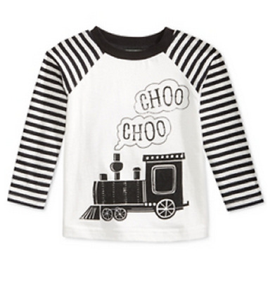 First Impressions Baby Boys' Long-Sleeve Train T-Shirt, Sizes 3 To 24 Months