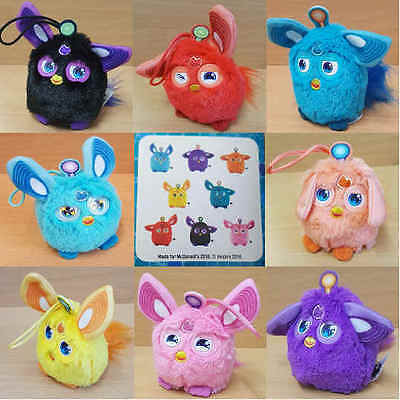 McDonalds Happy Meal Toy 2016 FURBY Connect Dino Furbling Bag Hanger - VARIOUS