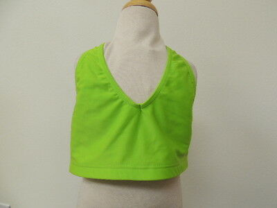 Heart & Soul Size SMALL Adult Ruched Back Lime Dance Bra NWT