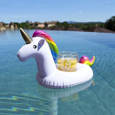 Inflatable Unicorn Cup Holder Pool Float Lilo Bath Toy. Beach Toy. UK STOCK