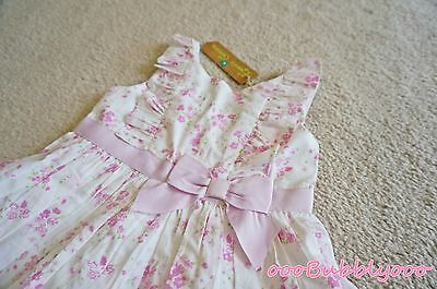 NWT Emma's Garden Infant Toddler Girl Spring Floral Dress 2 Piece Size 18 Months