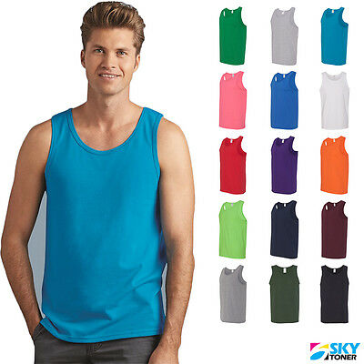 Gildan Men's Heavy Cotton Tank Top Plain Tee Muscle Gym Sleeveless - 5200