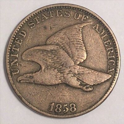 1858 Large Letters Flying Eagle Cent Beautiful Coin