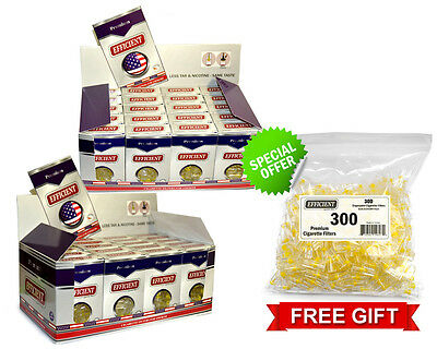 Efficient Cigarette Filters 40 Packs (1200 filters) + FREE 300 Bulk Filters