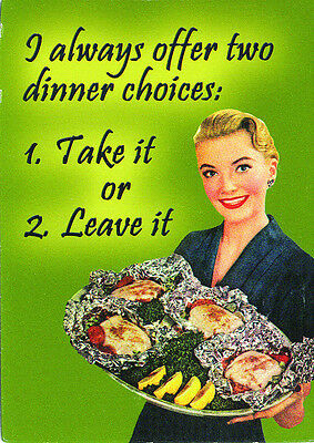 Two Dinner Choices Fridge Magnet, Funny, Novelty, Quirky, Gift, Free shipping