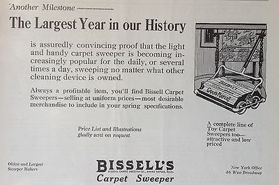 Vintage 1924 Ad(F16)~Bissell Carpet Sweeper, Grand Rapids, Mich.