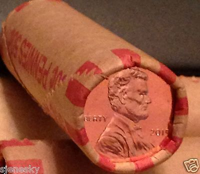 2015 P Shield Uncirculated Lincoln Cents Unopened  Roll Fast Shipping !!
