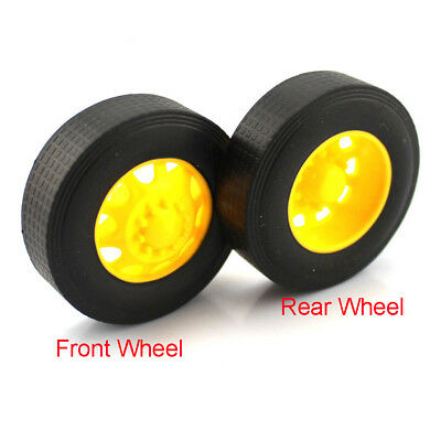 3x42mm Rubber Tires Model Truck Wheel For DIY RC Toy Car Accessories