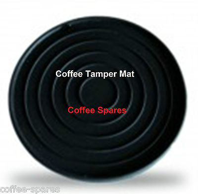 TAMPER MAT DISC 66mm FLAT Round Black Silicone-protect coffee Tamper & Benchtops
