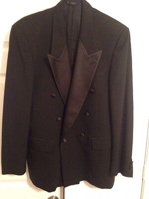 Men's After Six Double Breasted Wool Tuxedo Jacket Size 41 long