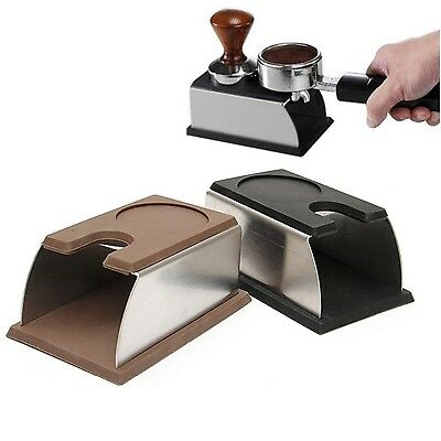 COFFEE TAMPER TAMPING STAND Black with Tamper Rest- stainless steels