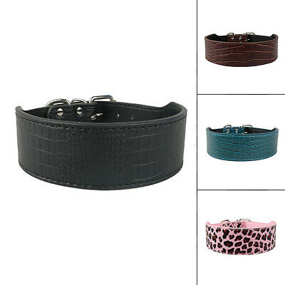 10pcs Plain Croc PU Leather Pet Dog Collars For Dogs S M L XL Wholesale Supplier