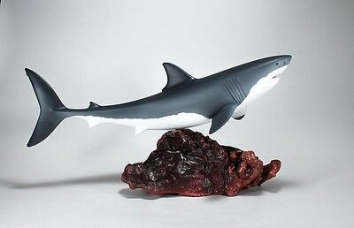 GREAT WHITE SHARK Sculpture New from JOHN PERRY Limited Edition 24in Statue