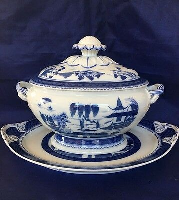 Mottahedeh CANTON (Blue Willow) Charleston Oval Tureen & Lid with Underplate