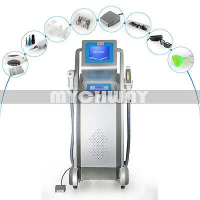 Professional 2in1 YAG Q-Switch Laser Tattoo Removal E Light RF Skin Rejuvenation