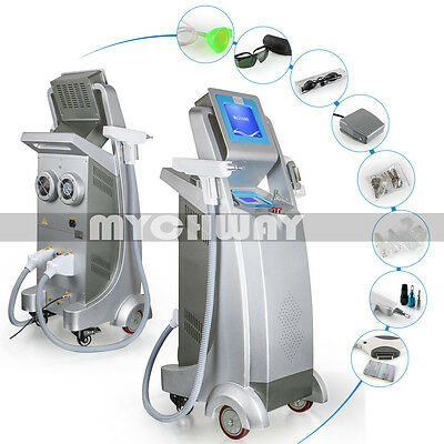 2in1 YAG Q-Switch Laser Tattoo Removal E Light RF Skin Rejuvenation SPA Machine