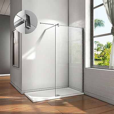 Aica Walk In Shower Enclosure Wet Room Screen Panel Easyclean Glass NEXT DAY DEL