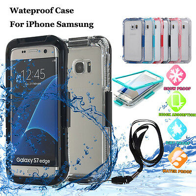 Samsung Galaxy S6/S7/S10+ Note 9 Shockproof Waterproof Dirtproof Case Full Cover