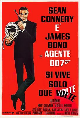 James Bond: * You Only Live Twice *  Sean Connery Italian Movie Poster 1967