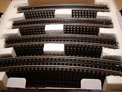 O-Scale Atlas #6062 072 Full Curved Track With Simulated Wood Ties 3 Rail 32 Pcs
