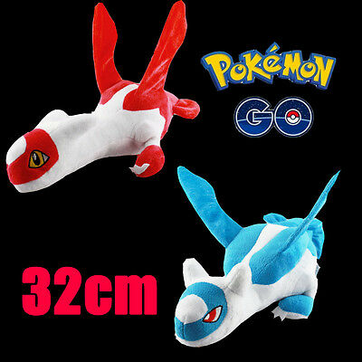 HOT! Pokemon Go Latios And Latias Plush Soft Teddy Stuffed Dolls Kids Toy 32cm