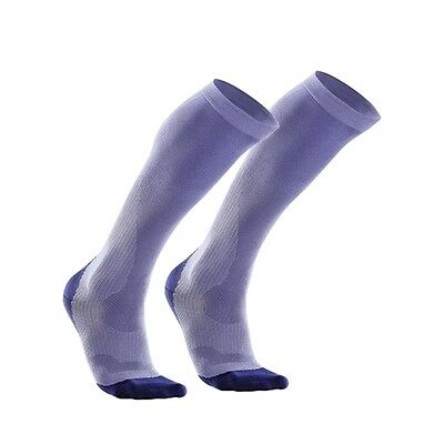 2Xu Womens Compression Performance Run Sock Lavender/velvet Purple