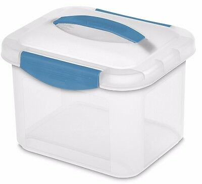 Sterilite Small Clear Plastic Show Off Storage Container Bin With Lid And Handle  sc 1 st  PicClick & STERILITE SMALL CLEAR Plastic Show Off Storage Container Bin With ...