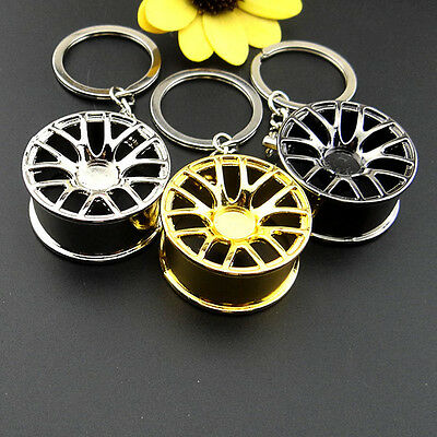 Fashion Creative Wheel Hub Rim Model Man's Keychain Car Key Chain Cool Gift Hot