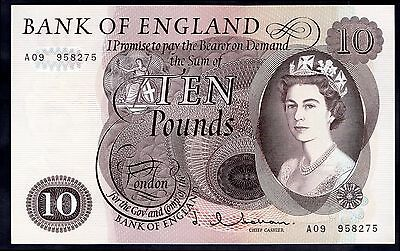 Hollom, Ten Pounds,  A09 958275, (1963), (Dugg; 299), Good Extremely Fine.