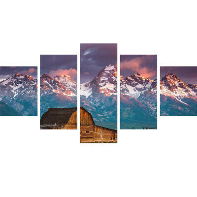 HUGE Modern Canvas Wall Art Printing Paint for your Living Room - 5 Panels/ Set